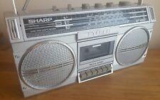 VINTAGE SHARP GF-4343E Radio Cassetta Ghetto Blaster Boombox Piombo