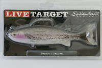LIVE TARGET Swimbait Rainbow Trout Silver Violet Olive Red 6.5 OR 7.5 Inch NEW