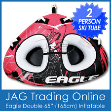 """EAGLE 65"""" DOUBLE X-LARGE 2 PERSON INFLATABLE SKI TUBE/BISCUIT-Delta Twin Towable"""