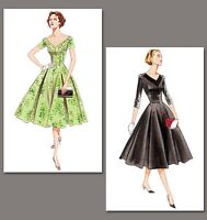 V2903 50s fifties style dress SEWING PATTERN, Vintage Vogue size 6-22 retro 1950
