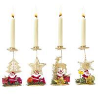 Christmas Iron Candlestick Desktop Household Decor Candle Holder Xmas Ornaments