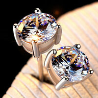 Ohrstecker Ohrringe aus Sterling Silber 925er mit Swarovski Elements Zirkonia