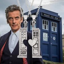 DOCTOR WHO Tardis Antiqu Silver Twin necklaces pendants Couples Lovers Fans Gift