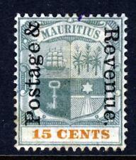 MAURITIUS 1902 15c. Green & Orange Overprinted POSTAGE & REVENUE SG 159 MINT