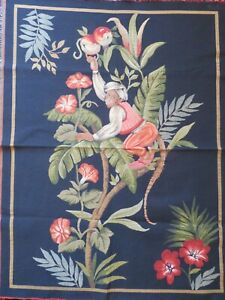 TAPESTRY UPHOLSTERY FABRIC MATERIAL CHEEKY MONKEY FLORAL DESIGN