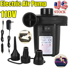 Electric Air Pump-Power Inflator Blower Fit Car Boat Paddling Pool Bed Mattress