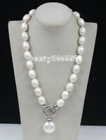 Wedding June Pearl South Sea Baroque White Shell Pearl Necklace 20""