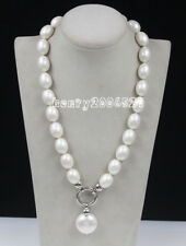 Wedding 2017 June Pearl South Sea Baroque White Shell Pearl Necklace 20""
