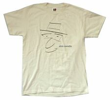 Elvis Costello Face Caricature Sketch Image Light Tan Natural T Shirt Medium New
