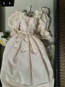 "Franklin Mint Princess Diana Wedding Gown Dress Ensemble 16"" NEW"