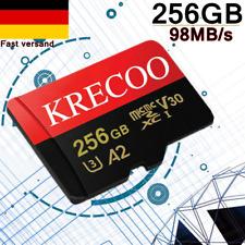 KRECOO 256GB TF-Karte Flash TF Speicherkarten Für Telefon Kameras + Adapter Sets