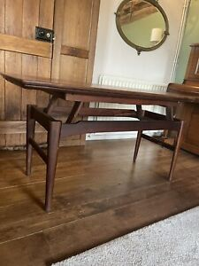 vintage retro Danish Mid Century rosewood 60s coffee table extending