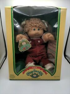 1984 Coleco Cabbage Patch Kids blonde Hair Green Eyes. New in Box Red Overall