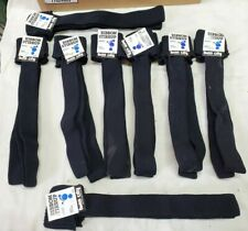 8 Pair Twin City Adult Athletic Ribbon Stirrup Socks Black #513 100% nylon
