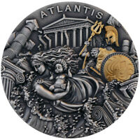 ATLANTIS Legendary Lands 2 oz Silver  High Relief  Coin  Niue 2019