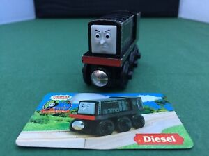 Thomas and Friends Wooden Railway - Diesel with Collector's Card - VGC Used