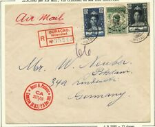 CUR.15, 20+ 50 CT.,68,93+94 OP R-LP.COUVERT WILLEMSTAD-DUITSLAND 22.8.1930 Ac574