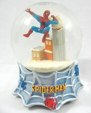 Rare Spider-man Kurt Adler Snow Globe Music Box Musical Waterball 2003 Marvel