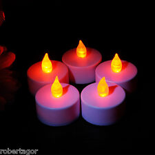 SET 6 CANDELE FIAMMA LUMINI LED DECORATIVE A BATTERIA VOTIVI LUCE BIANCO CALDO
