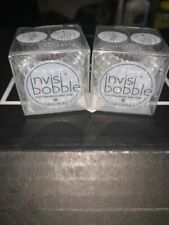 LOT Of 2 - Invisibobble Clear Hair Bands Traceless Rings 3 Pack Each, 6 rings