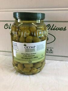 Grüne Oliven 2 kg mit Kern Größe Mamouth MHD 10.2021