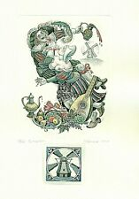 Exlibris Etching  Bookmark C3 Irina Kozub