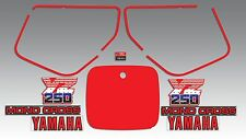 YAMAHA 1986 YZ250 WICKED TOUGH DECAL GRAPHIC KIT LIKE NOS
