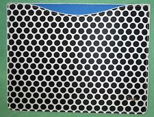 Juicy Couture IPad Sleeve NEW Black white dot Retail 48 Polka Dot no box