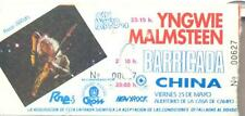 YNGWIE MALMSTEEN  MADRID MAY 25th 1990 - CONCERT TICKET