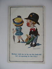 POSTCARD COMIC Donald McGill  CHILDREN Mother told me to be on...