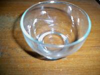 "Anchor Hocking Plain Clear Glass Sherbert Dish 3 1/2"" diameter, 2 3/8"" tall"