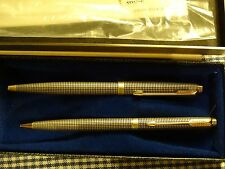VINTAGE PARKER 75 STERLING SILVER BALLPOINT PEN & 0.9MM PENCIL SET