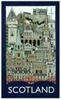 Scottish Tea Towel Souvenir Gift Scotland Landmarks Collage Cityscape Montage