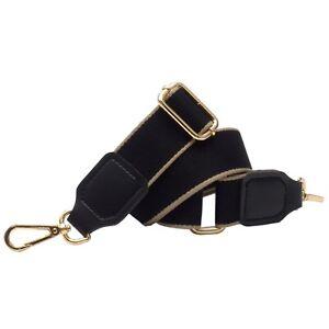 BENAVA Taschengurt Schultergurt für Taschen Schwarz Gold Silber Verstellbar