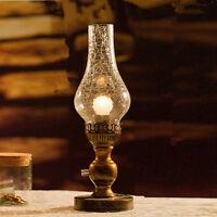 Dimmable Table Lamp Banker's Table Light Desk Top Table Lighting Bar Glass Light