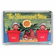RETRO  60's BILL and BEN THE FLOWER POT MEN + LITTLE WEED JUMBO  Fridge Magnet