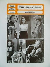 CARTE FICHE CINEMA 1959 DOUZE HEURES D'HORLOGE Lino Ventura Eva Bartok Hannes Me