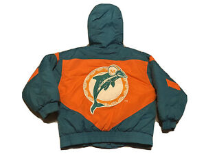 Vintage Retro 90's NFL Miami Dolphins Puffer Jacket Youth M 5/6 Game Day Logo 7