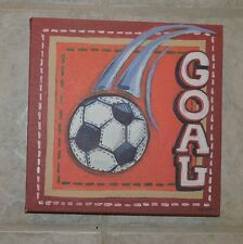 """Kids Canvas Soccer Goal Wall Hanging Picture, Oopsy Daisy Too, 10"""" x 10"""""""