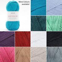 Sirdar Cotton DK Double Knit Knitting Yarn Crochet Craft 100g Ball Wool