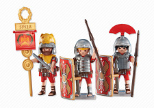 Playmobil 6490 3 Roman Soldiers  Legionnaires  NEW Add On item