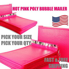 Hot Pink Poly Bubble Mailers Padded Envelope Protective Packaging Pouch Bags