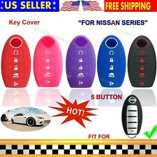 Silicone Cover Fob Case Skin For Nissan Altima Maxima Murano Pathfinder Key