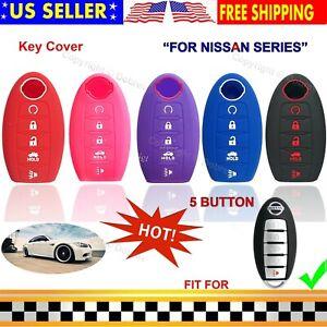 Silicone Cover Fob Case Skin For Nissan Altima Maxima Murano Pathfinder Key