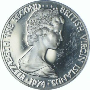 Better Date - 1974 British Virgin Islands 1 Dollar - SILVER *546