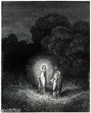 INFERNO: BEATRICE RACCOMANDA DANTE A VIRGILIO. Gustave Doré.Divina Commedia.1890