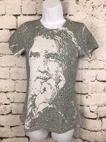 Litograph Women Shirt Oscar Wilde - An Ideal Husband Face Portrait Small Green