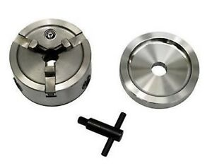 """Brake Lathe Quick Chuck Adapter / Backing Plate / Key fits Ammco any 1"""" arbor."""