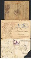 1916 Port Said Egypt postcard with 'A.I.F. Passed by Censor No' in blue TS791