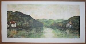 Listed French Artist BERNARD GANTNER Signed Original Color Lithograph Numbered
